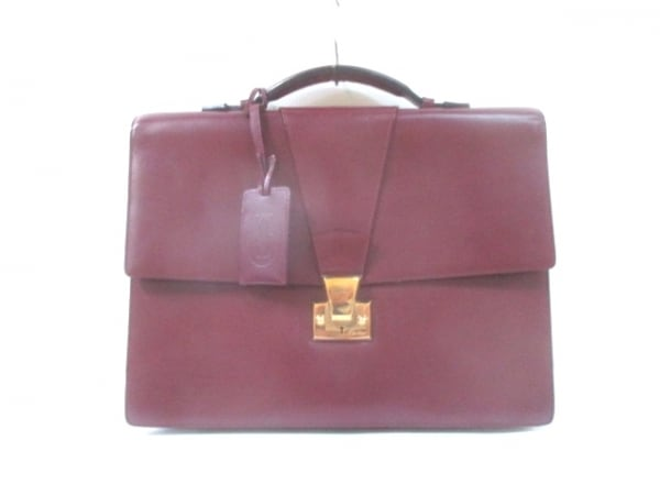 Cartier(カルティエ) ビジネスバッグ マストライン ボルドー レザー