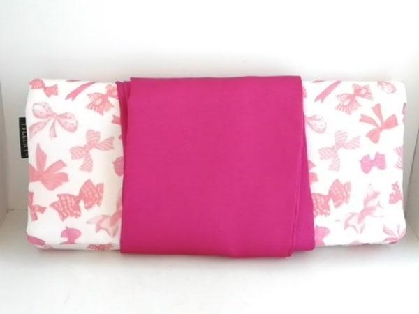 メゾンドフルール 小物入れ美品  白×ピンク アクセサリーケース ナイロン