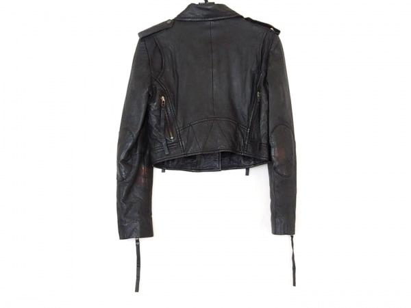 トゥエンティーエイトトゥエルブ ライダースジャケット サイズ38 M レディース 黒