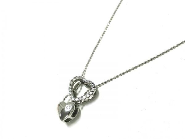 FolliFollie(フォリフォリ) ネックレス美品  K10×ダイヤモンド ハート/0.57カラット
