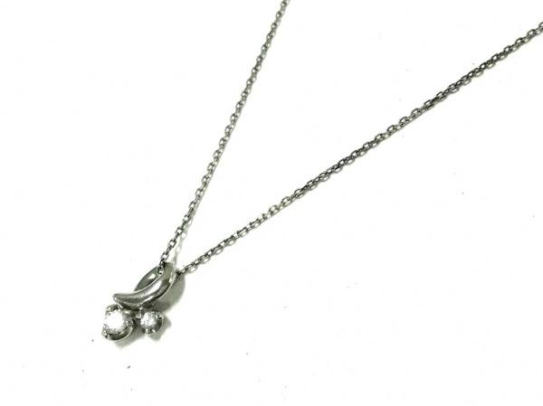 4℃(ヨンドシー) ネックレス美品  Pt850×ダイヤモンド