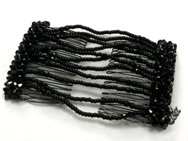 コンプレックスビズ アクセサリー美品  金属素材×プラスチック ダークブラウン×黒