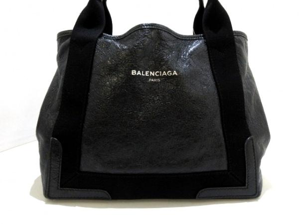 BALENCIAGA(バレンシアガ) トートバッグ ネイビーカバS 339933 黒 レザー