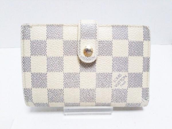ルイヴィトン 2つ折り財布 ダミエ ポルトフォイユ・ヴィエノワ N61676 アズール