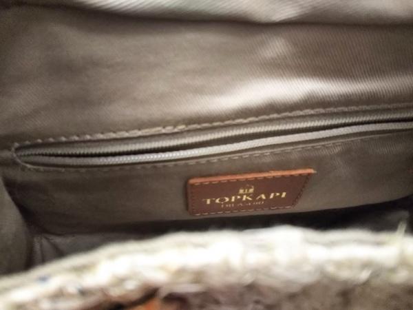 トレジャートプカピ ハンドバッグ新品同様  ベージュ×ブラウン かごバッグ