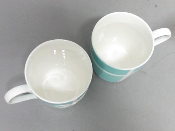 ティファニー マグカップ新品同様  ブルーボウ ライトブルー×白 マグカップ×2 陶器