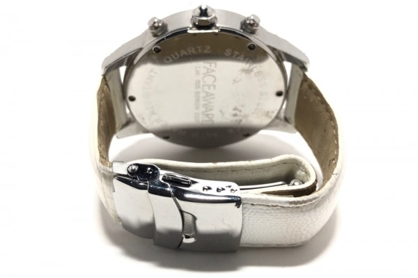 フェイスアワード 腕時計 005 メンズ 革ベルト/クロノグラフ/ラインストーンベゼル