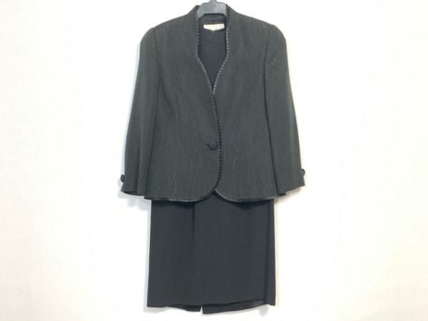 JUN ASHIDA(ジュンアシダ) ワンピーススーツ サイズ9 M レディース美品  黒 肩パッド