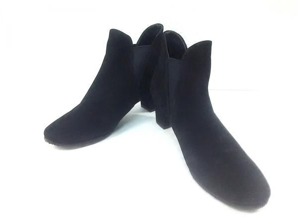 ディッシィ ショートブーツ 22 1/2 レディース 黒 MODEETJACOMO スエード×化学繊維