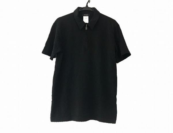 ヴェルサーチクラシック 半袖ポロシャツ サイズL メンズ美品  黒 V2/ジップアップ