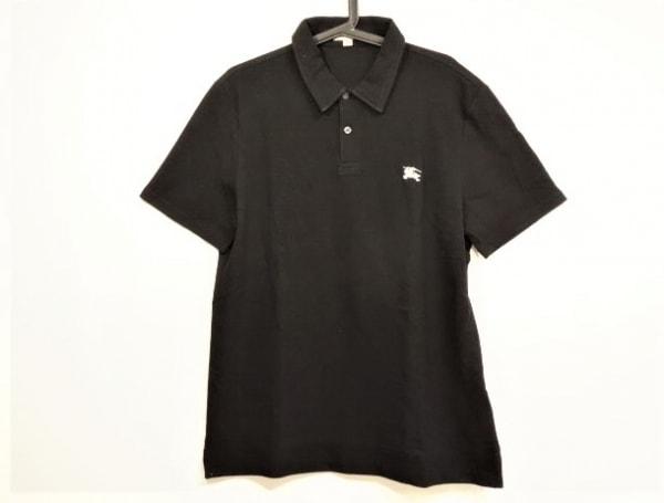 BURBERRY BRIT(バーバリーブリット) 半袖ポロシャツ サイズL メンズ美品  黒