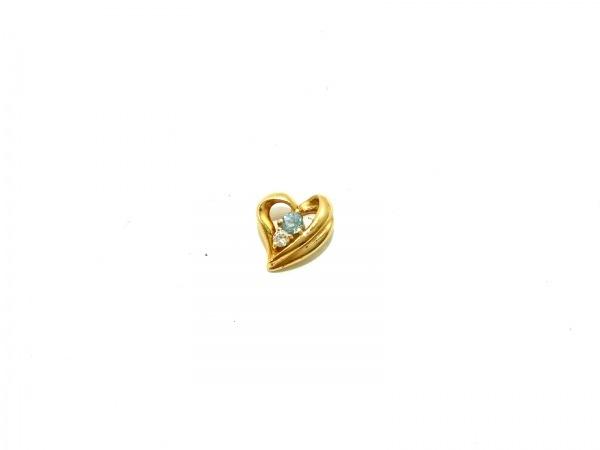 ノーブランド ペンダントトップ美品  K18×ダイヤモンド×カラーストーン 総重量:1.1g
