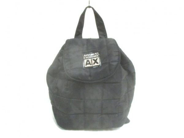ARMANIEX(アルマーニエクスチェンジ) リュックサック 黒 キルティング ナイロン