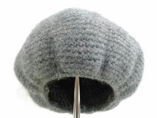 crepuscule(クレプスキュール) 帽子 F美品  ダークグレー アンゴラ/毛/アクリル