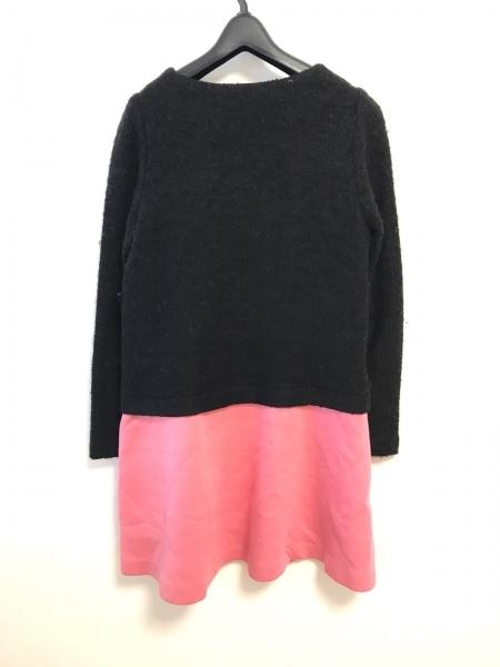 DOLLY GIRL(ドーリーガール) ワンピース サイズ2 S レディース 黒×ピンク リボン