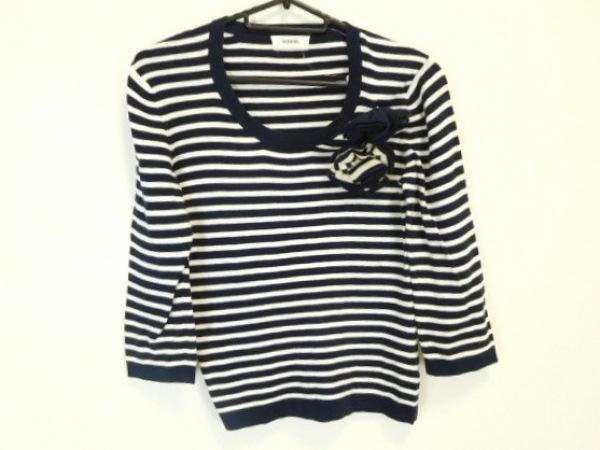 INGEBORG(インゲボルグ) 長袖セーター サイズS レディース美品  黒×白 ボーダー