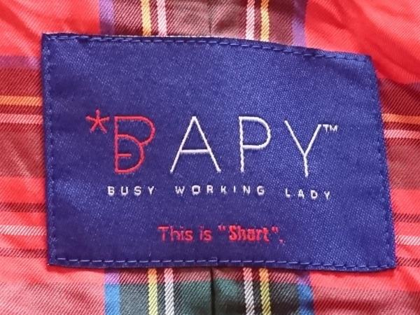 BAPY(ベイピー) コート レディース ベージュ イチゴモチーフ/冬物