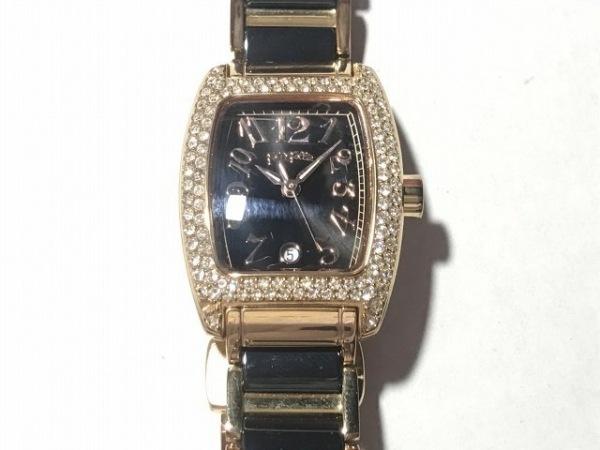 FolliFollie(フォリフォリ) 腕時計 WF5R135BD レディース ラインストーン 黒