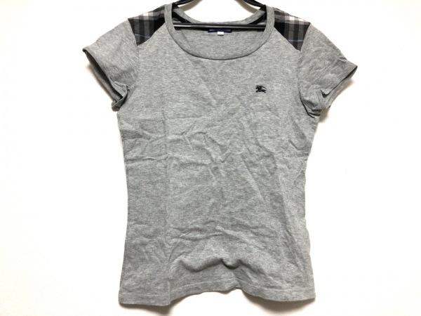 バーバリーブルーレーベル 半袖Tシャツ サイズ38 M レディース美品  肩チェック柄