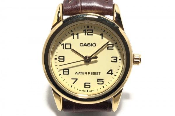 CASIO(カシオ) 腕時計 LTP-V001 レディース 社外ベルト アイボリー