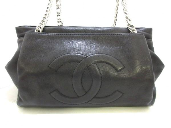 CHANEL(シャネル) ショルダーバッグ - 黒 チェーンショルダー/シルバー金具