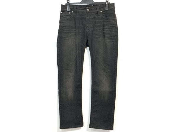 NudieJeans(ヌーディージーンズ) ジーンズ メンズ美品  黒×アイボリー ダメージ加工