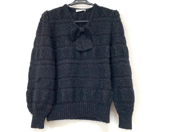 クリスチャンディオール 長袖セーター サイズM レディース 黒×オレンジ×グリーン