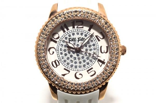 FolliFollie(フォリフォリ) 腕時計 WF9B019ZS レディース アイボリー×クリア