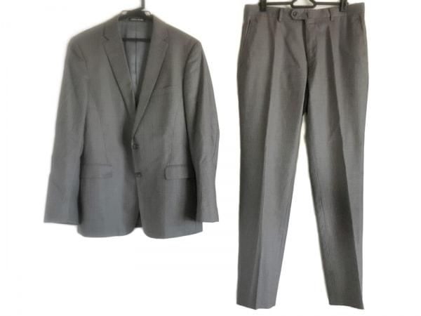パーソンズ シングルスーツ サイズA6 メンズ美品  グレー 肩パッド/ストライプ