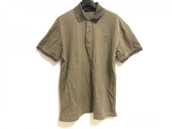 KENT&CURWEN(ケント&カーウェン) 半袖ポロシャツ サイズL メンズ カーキ