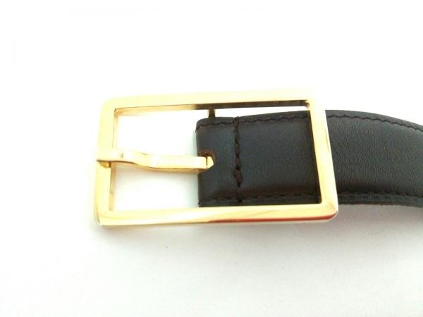 a0601332a10c ... シャネル ベルト 65/26 ゴールド×ダークブラウン ココマーク レザー×金属素材 ...