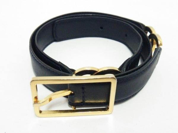 cb068ceaf53d CHANEL(シャネル) ベルト 65/26美品 黒×ゴールド ココマーク レザー×金属 ...