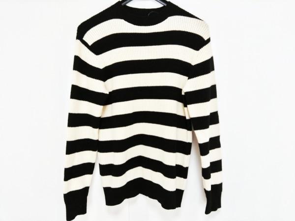 ジーヒステリック トリプルエックス 長袖セーター サイズM メンズ 黒×アイボリー