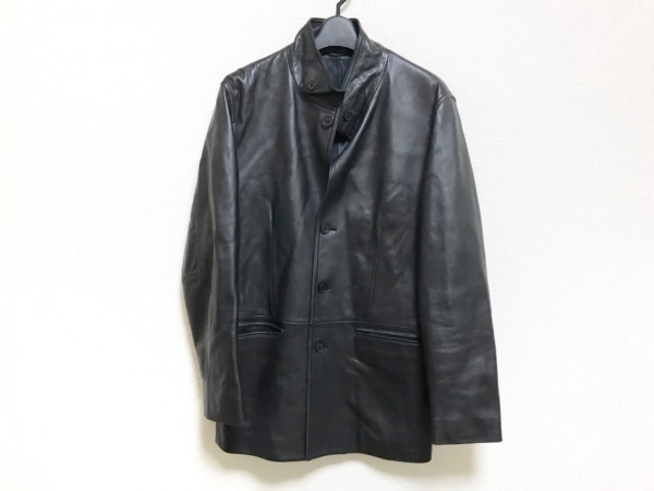 RYKIEL HOMME(リキエルオム) ジャケット サイズ48 XL メンズ美品  黒 レザー