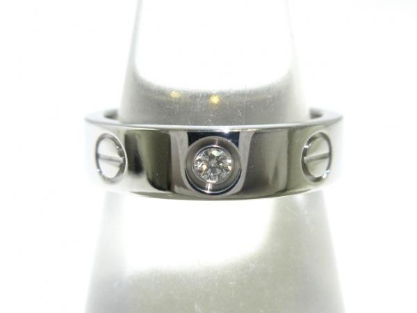 Cartier(カルティエ) リング 44美品  ミニラブ K18WG×ダイヤモンド 1Pダイヤ