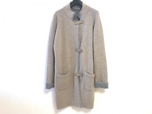 キャラオクルス コート サイズ9 M レディース ライトブラウン×グレー 冬物/ニット