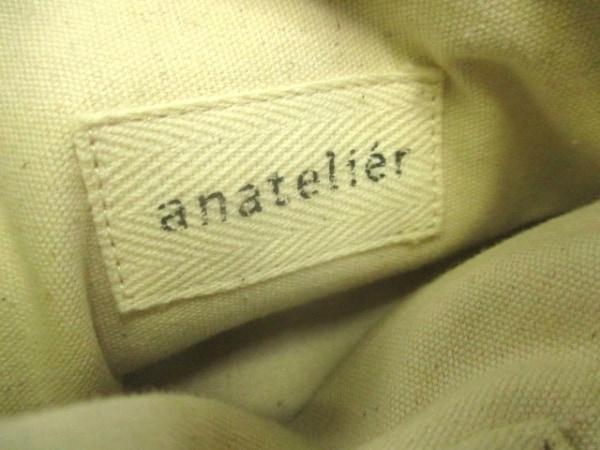 anatelier(アナトリエ) ハンドバッグ ベージュ×白×イエロー 花柄/ビーズ
