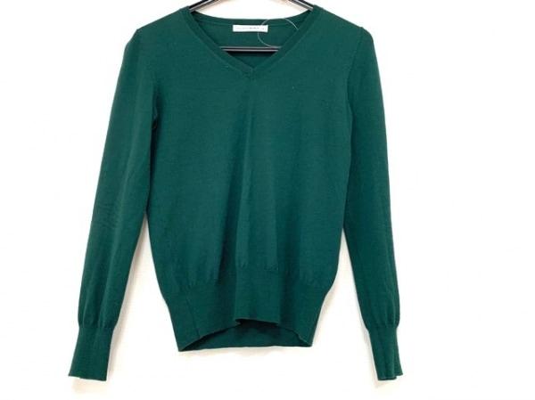 エムプルミエブラック 長袖セーター サイズ36 S レディース ダークグリーン