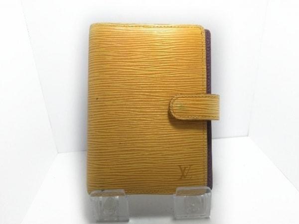 ルイヴィトン 手帳 エピ アジェンダPM R20059 ジョーヌ レザー(LVロゴの刻印入り)