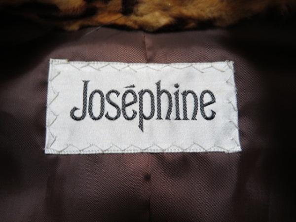 ジョセフィーヌ コート レディース美品  ライトブラウン×ダークブラウン×マルチ