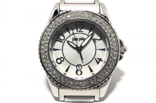 FolliFollie(フォリフォリ) 腕時計 WF6A067BD レディース ラインストーン シルバー