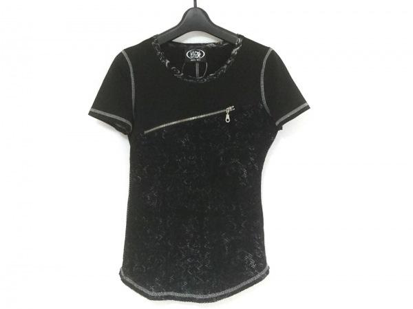 Ozz On(オッズオン) 半袖カットソー レディース美品  黒×グレー メッシュ