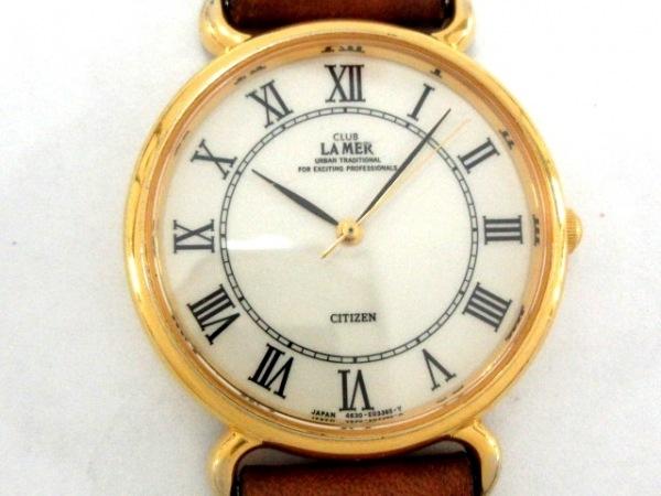 CITIZEN(シチズン) 腕時計 CLUB LA MER 4631-E66688TA メンズ 社外ベルト アイボリー
