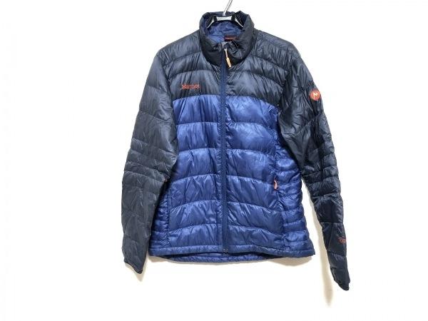 Marmot(マーモット) ダウンジャケット サイズXL メンズ ダークグレー×ブルー 冬物