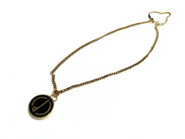dunhill/ALFREDDUNHILL(ダンヒル) ネクタイピン 金属素材 ゴールド×黒 タイチェーン