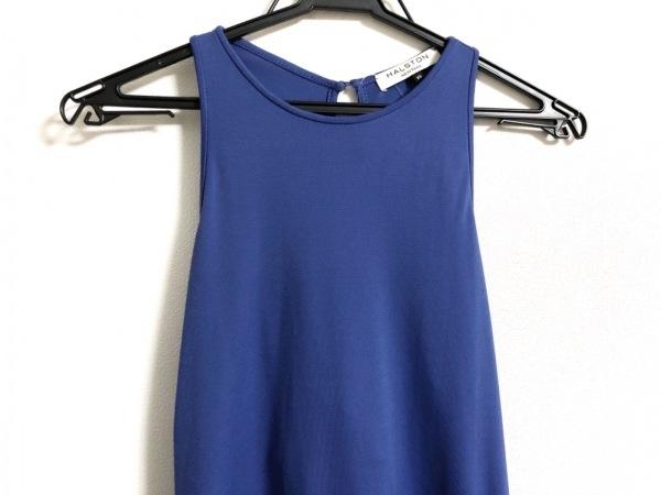 halston(ホルストン) ワンピース サイズXS レディース美品  ブルー