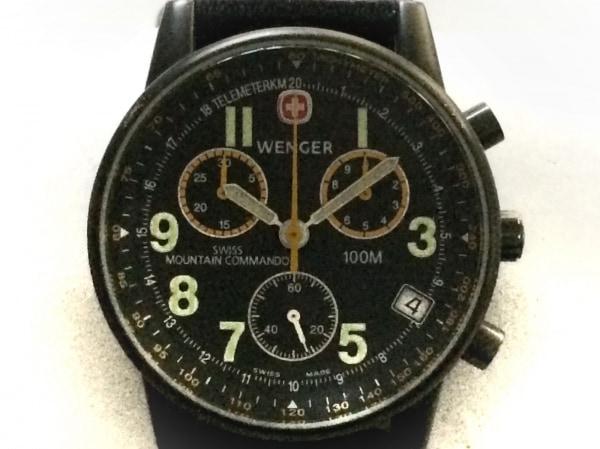 WENGER(ウェンガー) 腕時計 707X/T メンズ クロノグラフ 黒