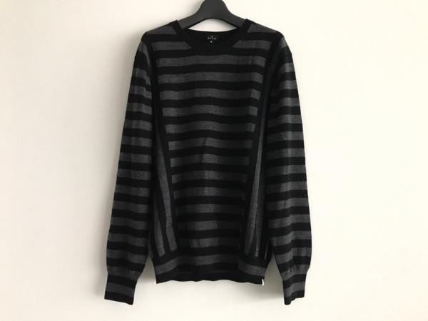 PaulSmith(ポールスミス) 長袖セーター サイズM メンズ美品  黒×グレー