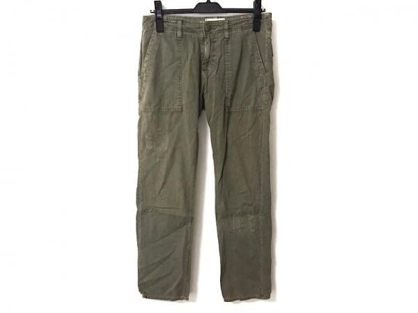 カレントエリオット パンツ サイズ24-0 レディース ダークグリーン ダメージ加工