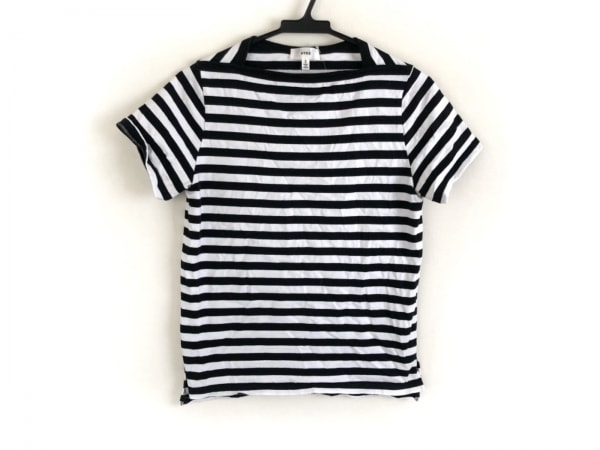 HYKE(ハイク) 半袖Tシャツ サイズ2 M レディース美品  黒×白 ボーダー